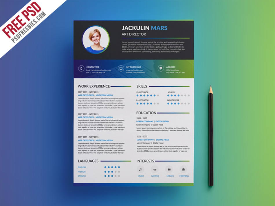 colorful creative resume. Resume Example. Resume CV Cover Letter