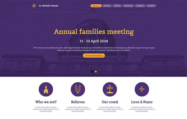 St Patricks Church Free Responsive Template